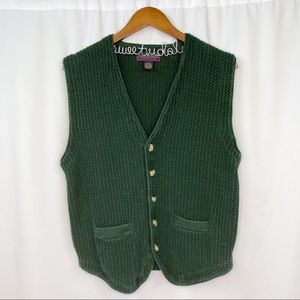 vintage 80s button-up sweater layering vest